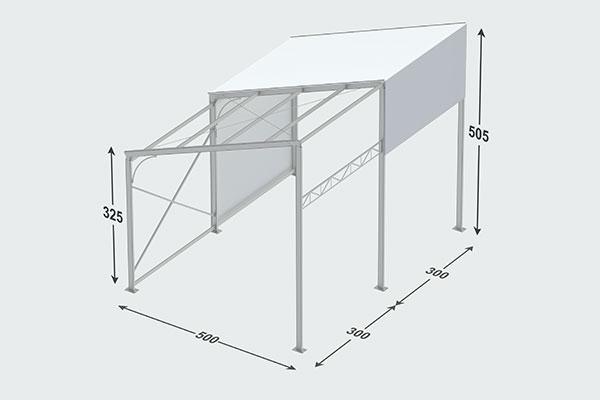 چادر های آلومینیومی بدون ستون
